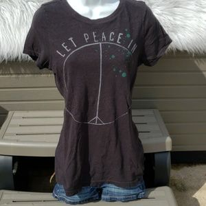 Black Peace Tee by American Eagle